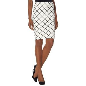 The Limited Windowpane Pencil Skirt
